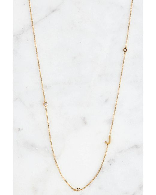 Tai - Metallic Gold Alphabet Necklace J - Lyst