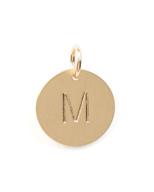 Nashelle D Initial Disc Necklace Charm Gold vFAfrfe