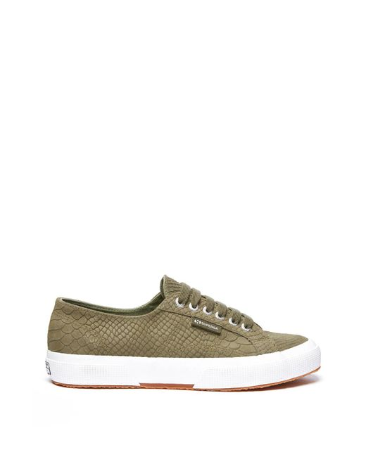 South Moon Under - Green Python Embossed Low Top Lace Up Sneaker - Lyst