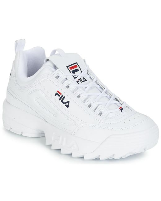 Fila Lage Sneakers Disruptor Low in het White voor heren