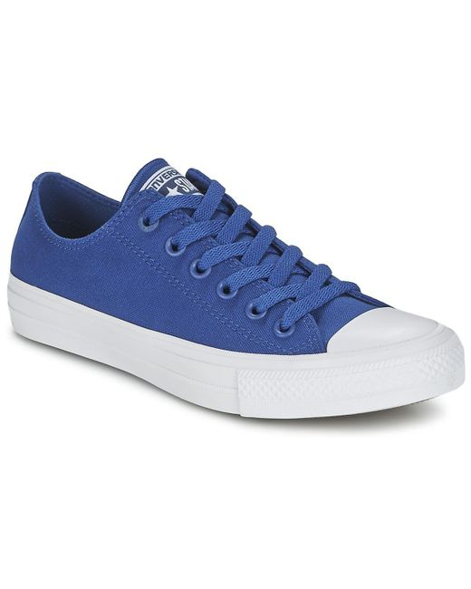 0a1e18de20a28a Converse - Chuck Taylor All Star Ii Ox Men s Shoes (trainers) In Blue for  ...