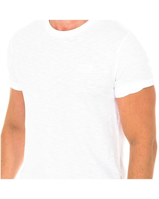 Camiseta manga corta Superdry de hombre de color White