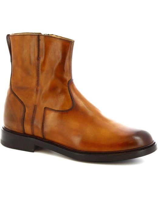 9223/19 VITELLO DELAVE SIENA Leonardo Shoes de color Brown