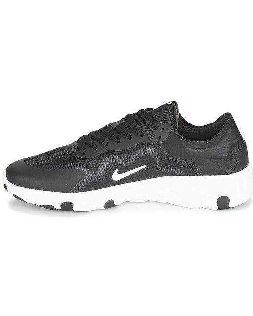 nike white & black renew lucent trainers