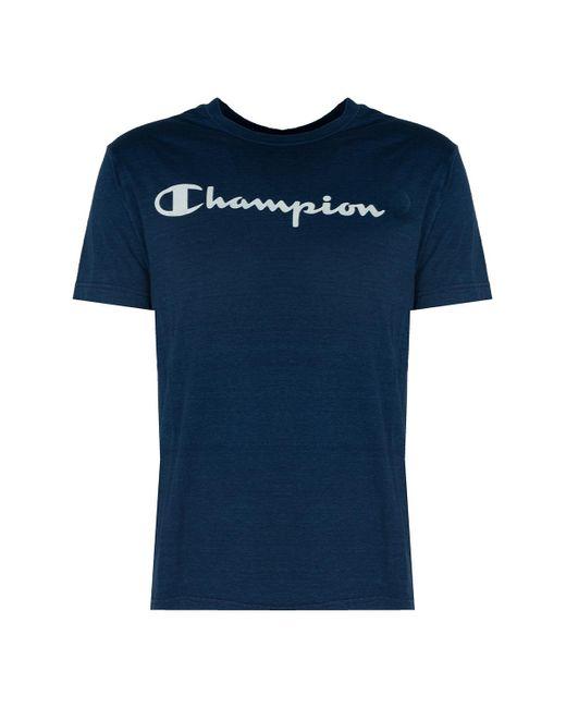 Champion T-shirt Korte Mouw in het Blue voor heren