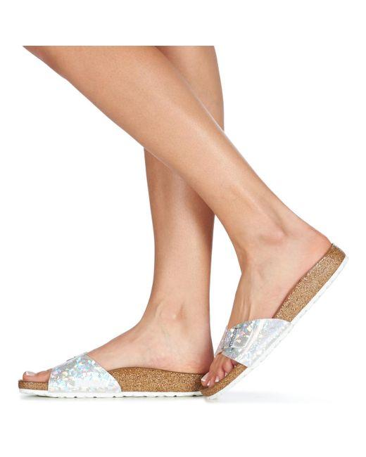 Birkenstock Slippers Madrid in het Metallic