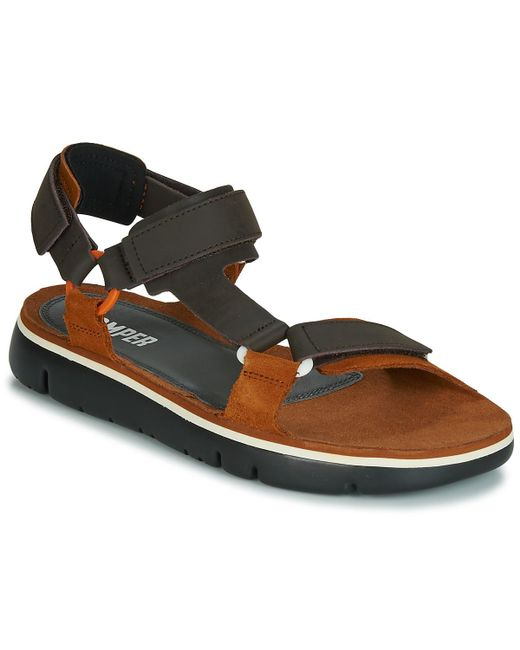 7e67255be881 Camper Oruga Men s Sandals In Brown in Brown for Men - Lyst