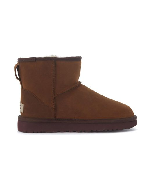 cd1836962fc Classic Ii Mini Ankle Boots In Dark Brown Suede Women's Mid Boots In Brown