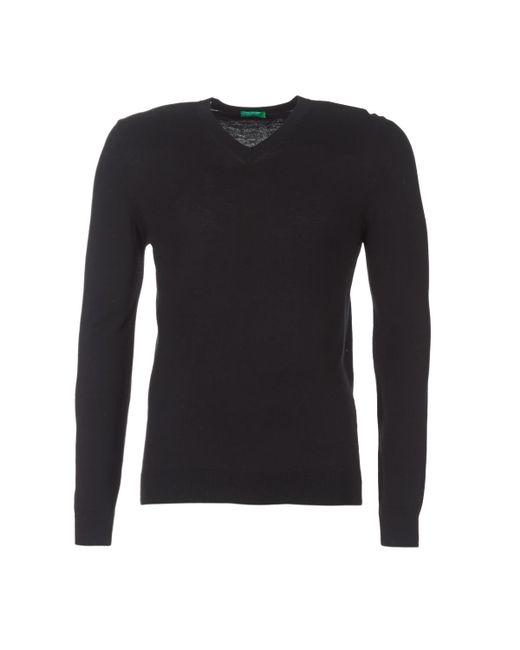 Benetton   Madra Men's Sweater In Black for Men   Lyst