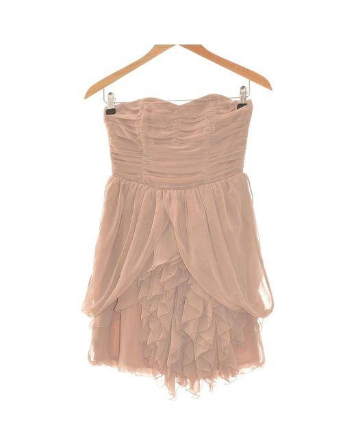 Robe Courte 34 - T0 - Xs Robe H&M en coloris Brown