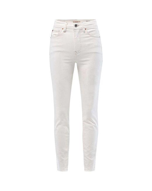 Jean Slim Elegant Capri Jeans Salsa en coloris White