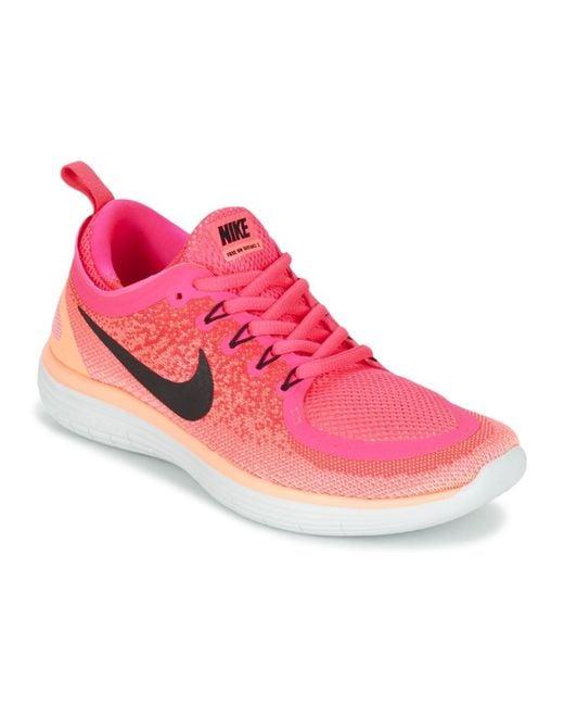 size 40 69157 84599 Nike - Pink FREE RUN DISTANCE 2 W femmes Chaussures en rose - Lyst ...
