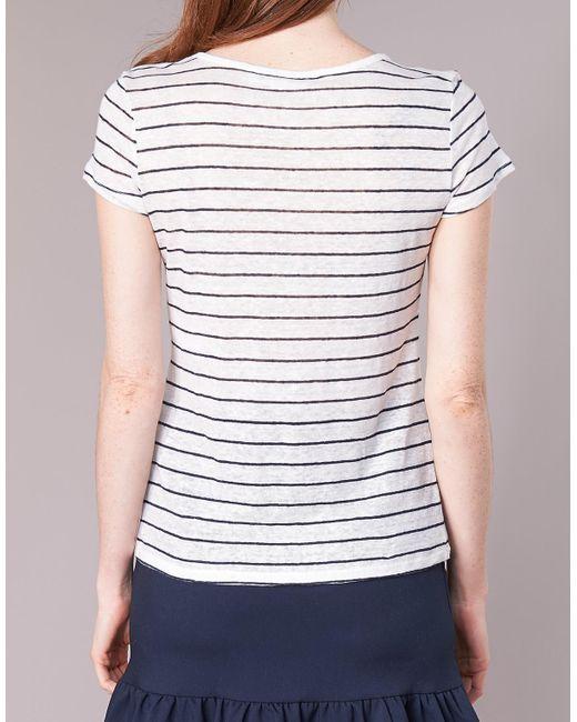 OFELIA femmes T-shirt en blanc Naf Naf en coloris White