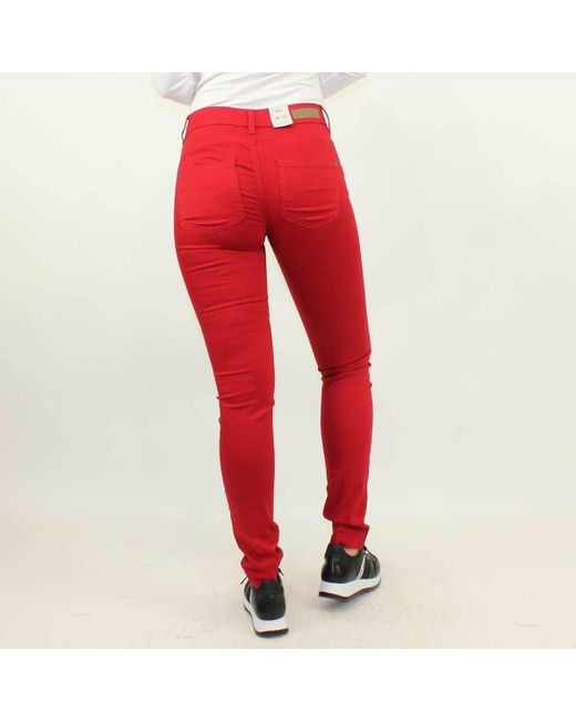 Push Pant Trousers Rojo Skinny Red Reg Women's Pantalon Up In Onllucia thCsxQdr