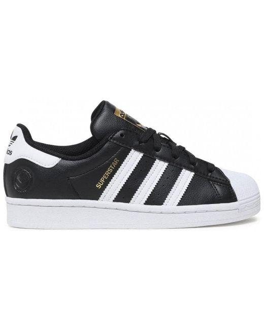 Adidas Lage Sneakers Fw2296 Superstar Vegan in het Black
