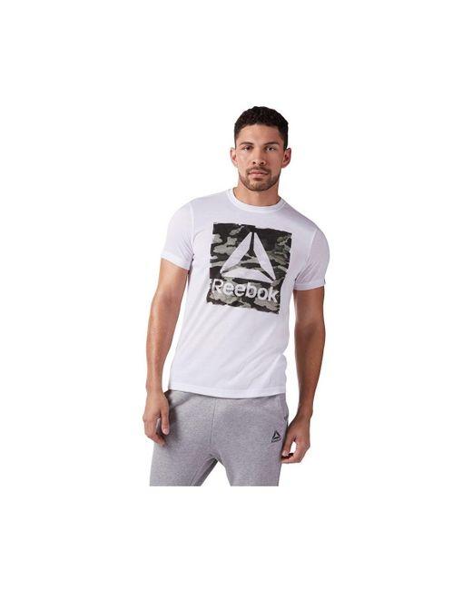 Camo Delta Speedwic hommes T-shirt en blanc Reebok pour homme en coloris White