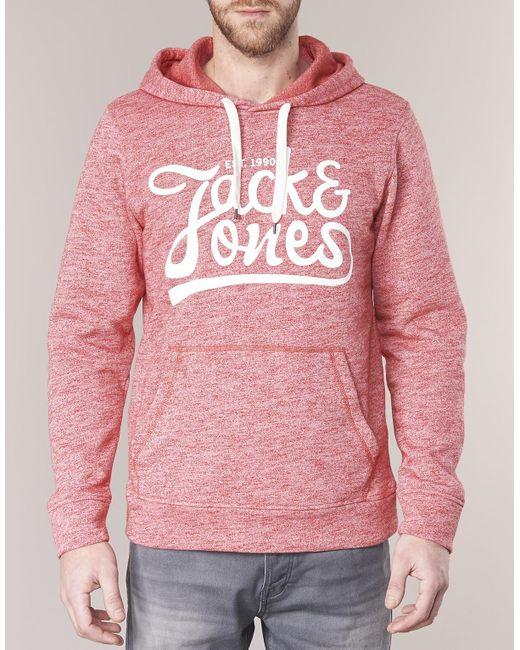 6408ef1002318 ... Lyst Jack   Jones - Red JORPANTHER hommes Sweat-shirt en rouge for Men  ...