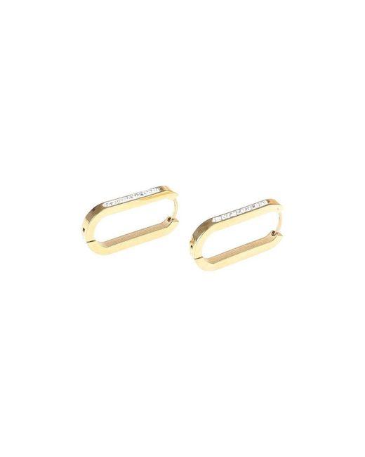 Créoles dorées ovales à strass Boucles oreilles La Modeuse en coloris Metallic
