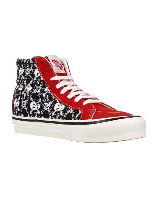 UA SK8-HI 38 DX Chaussures Vans en coloris Rouge - Lyst
