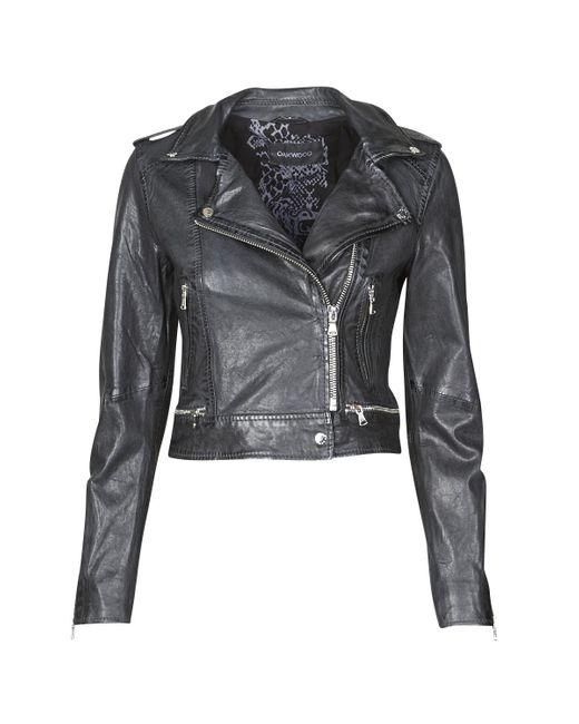 Oakwood Blue Kyoto Leather Jacket