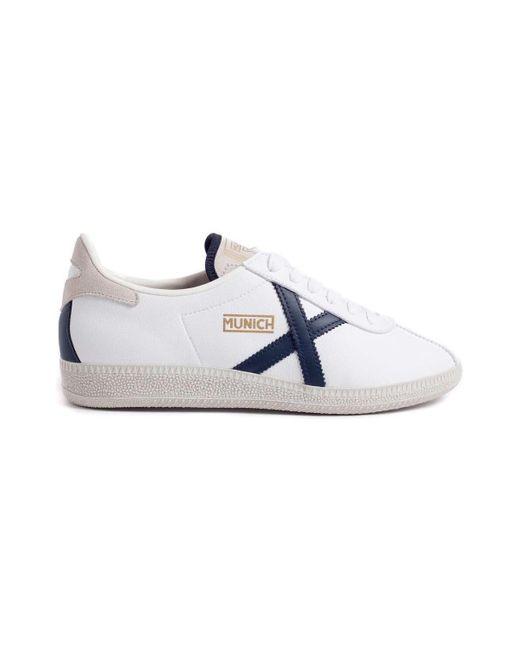 Munich Lage Sneakers Barru 111 in het White voor heren