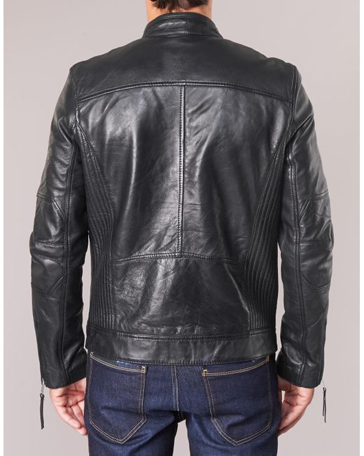 the latest b08e1 2841c Redskins Trust Casting Leather Jacket in Black for Men ...
