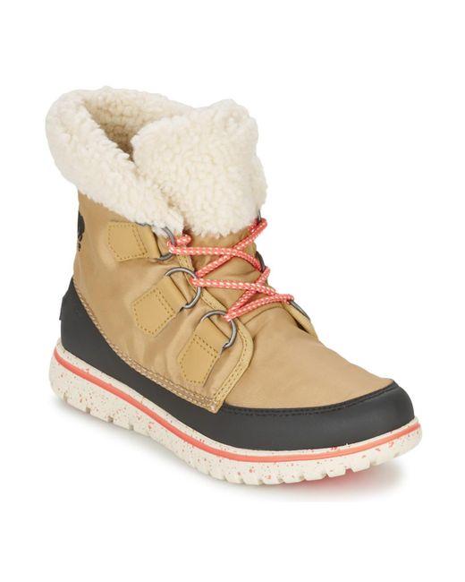Sorel   Natural Women's Cozy Carnival Waterproof Boot   Lyst