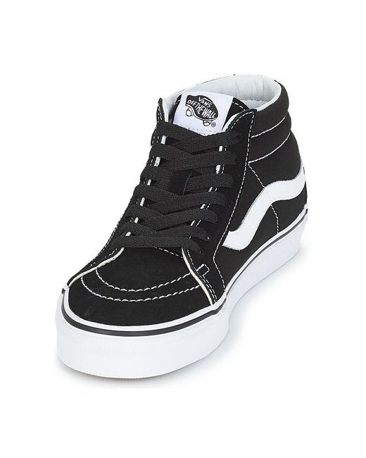 vans sk8 mid reissue high top trainers multicolor black