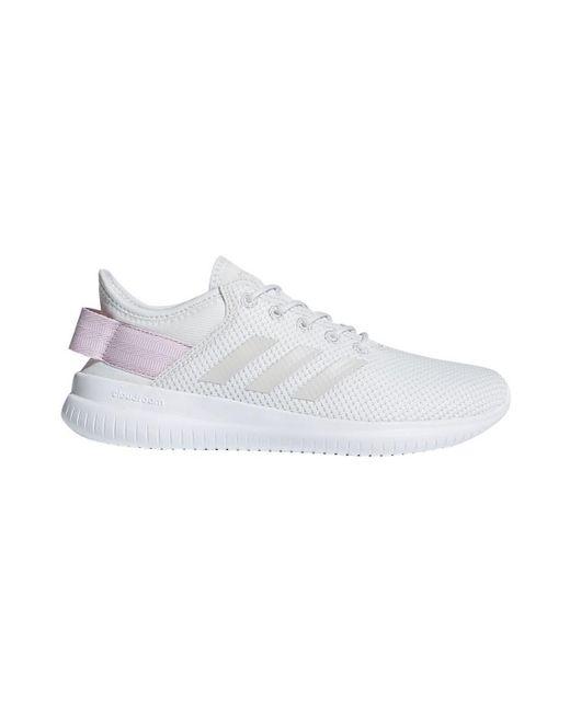 adidas cloudfoam qt flex scarpe da donna (formatori) in bianco in bianco.