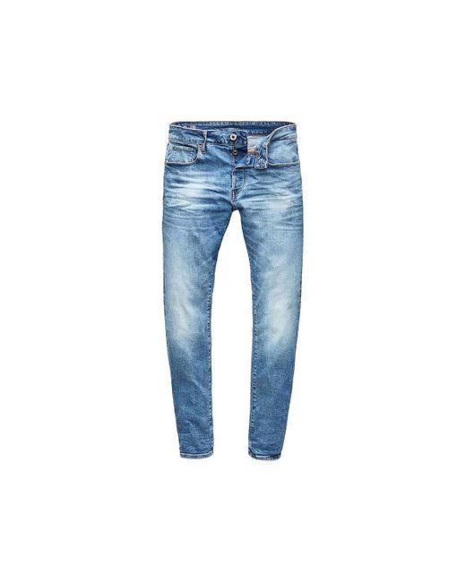 3301 SLIM AUTHENTIC FADED G-Star RAW de hombre de color Blue