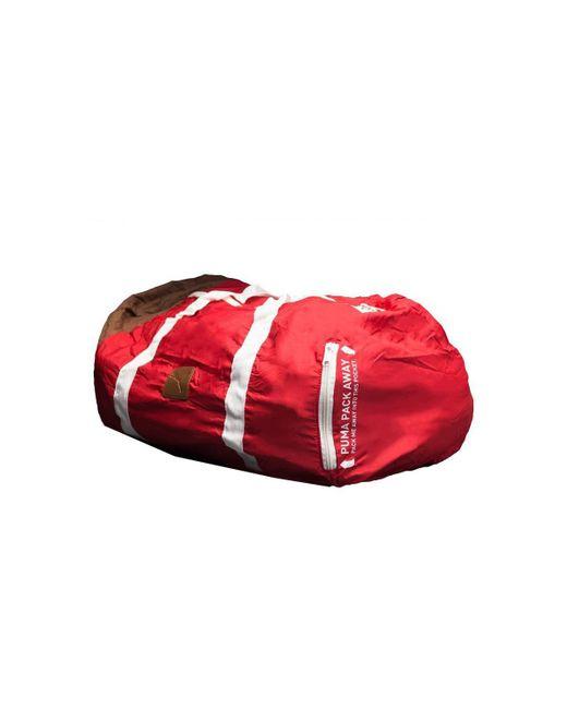 PUMA - Pack Away Barrel Bag Men's Travel Bag In Red for Men - Lyst