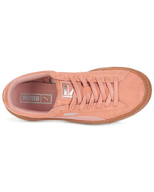 ... PUMA - Pink Suede Platform Core Gum Shoes (trainers) - Lyst ... fa5d40d21
