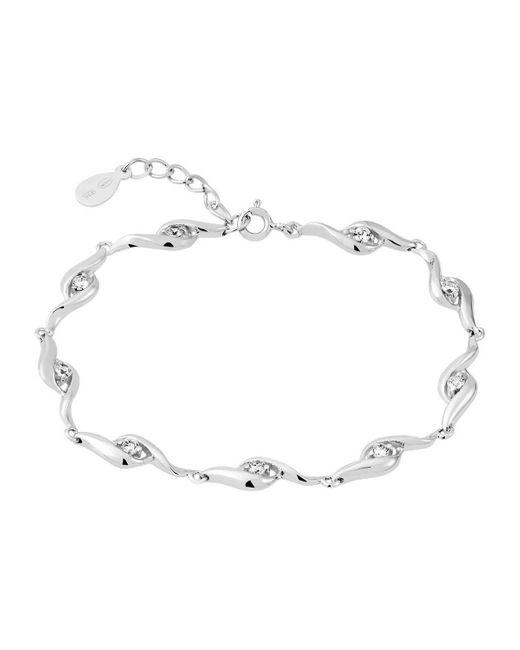 Bracelets Bracelet en Argent 925/1000 et Oxyde Cleor en coloris White