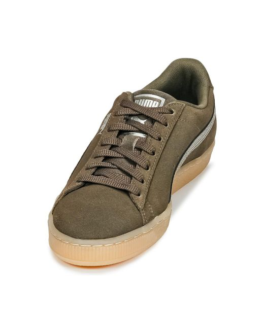 PUMA Suede Classic Bubble W's Shoes (trainers) in Green