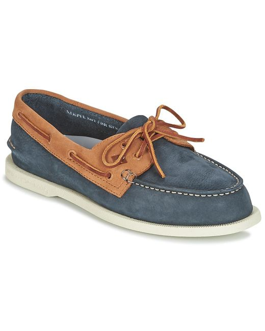 Sperry Top-Sider - A/o 2-eye Washable Men's Boat Shoes In Blue for Men - Lyst