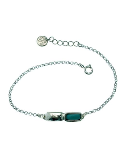 Bracelet double motifs collection Pya TUPAI by Bracelets Lili La Pie en coloris Blue