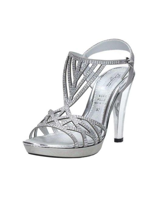 Brigitte Bardot | Metallic 46546 Sandals Women's Sandals In Silver | Lyst