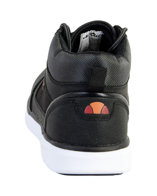 Hommes Noir Hugo En Homme Basket Pour Montante Chaussures Ellesse vfyY76bg