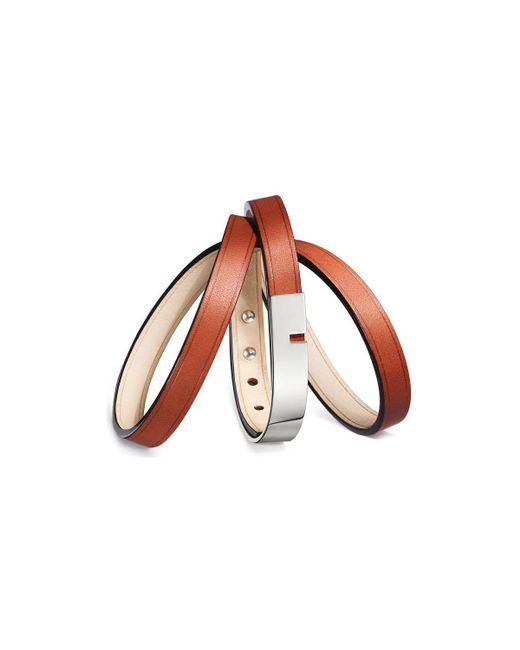 Ursul - Bracelet U-turn Triple Ii Red / Silver Woman Autumn/winter Coll Women's Bracelet In Red for Men - Lyst