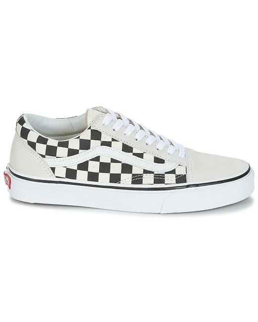 Vans Lage Sneakers Old Skool in het White