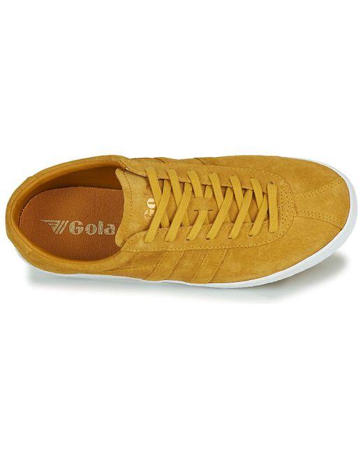 Gola Lage Sneakers Trainer Suede in het Yellow