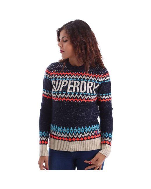 Superdry | G61023kn Jumper Women Women's Polo Shirt In Blue | Lyst