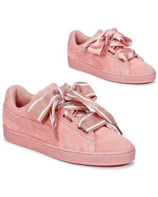 Heart Femmes Rose Satin En Basket Chaussures lJF1cuK3T