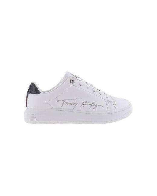 FW0FW05219YBR Chaussures Tommy Hilfiger en coloris White