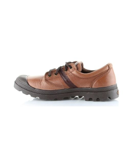 Palladium Pallabrouse Ox Lea Men's Shoes (trainers) In Brown for men