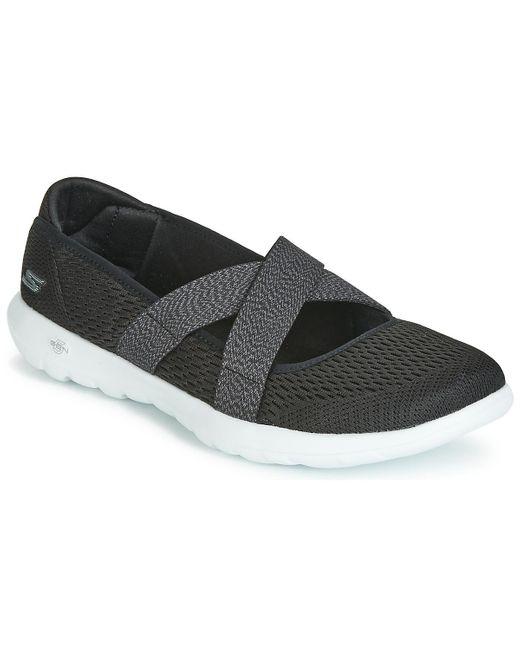 Skechers Go Walk Lite Cutesy Women's Shoes (pumps / Ballerinas) In Black