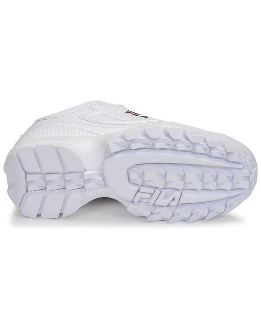 Fila Lage Sneakers Disruptor Low Wmn in het White