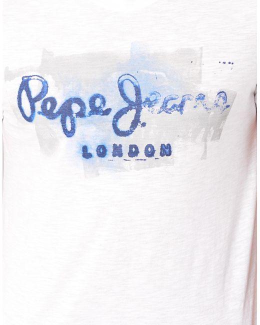 Pepe Jeans T-shirt Korte Mouw Golders in het White voor heren