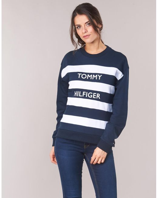 2f2e5cf2 Tommy Hilfiger Kendra C-nk Sweat Women's Sweatshirt In Blue in Blue ...