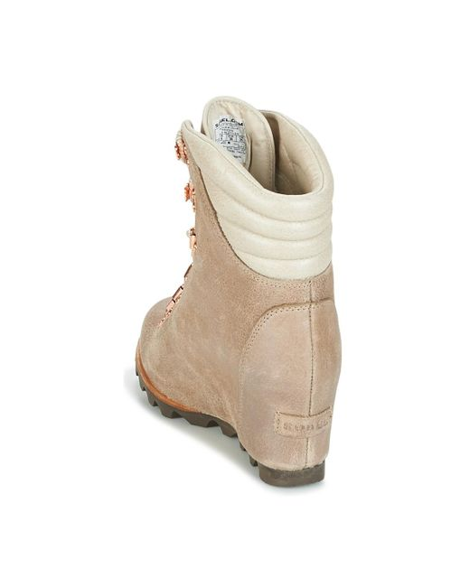 4a9b6265e51 ... Lyst Sorel - Natural Conquest Wedge Holiday Women s Mid Boots In Beige  ...
